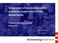 Integration of electronics within probation supervision in the ...