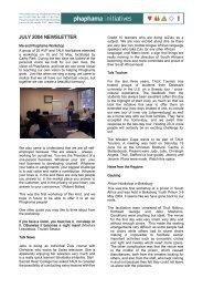 July 2004 Newsletter.pdf - Phaphama Initiatives