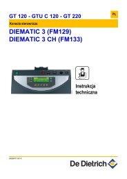 Instrukcja techniczna Diematic 3 dla GTU(C), GT 120 ... - De Dietrich