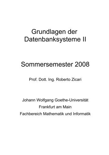 Grundlagen der - Goethe-Universität