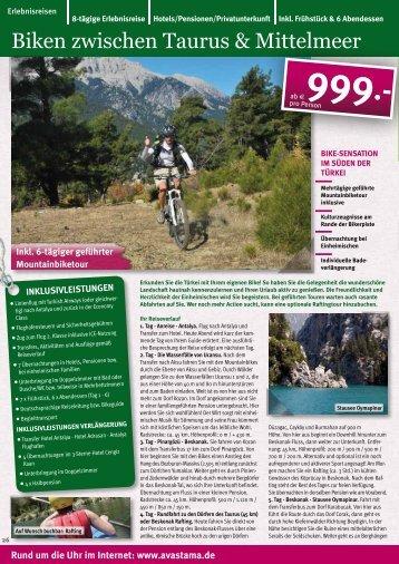 Biken zwischen Taurus & Mittelmeer - AVASTAMA - Erlebnisreisen