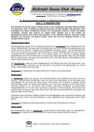 15. Schweizer Meisterschaft Kaltbrunn 2001: Bericht - RTCA