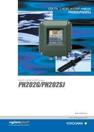 EXA PH 2-WIRE pH/ORP Analyzer PH202G/PH202SJ - Yokogawa