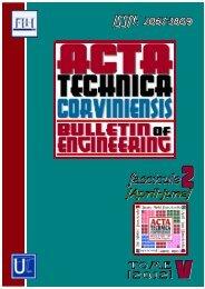 Editorial & Advisory Board - Acta Technica Corviniensis