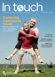 Issue 71 Summer 2009 (PDF) - Alzheimer's Australia