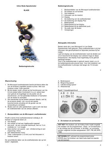 Inline Skate Speedometer BLADE ... - MICROSPORT