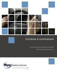 STEERING & SUSPENSION - Nye Lubricants, Inc.