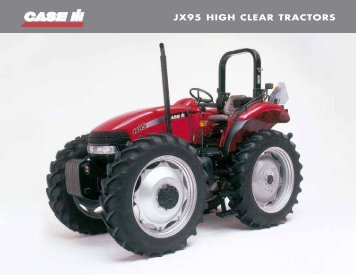 JX95 HIGH CLEAR TRACTORS - Case IH