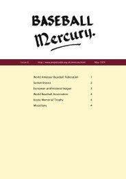 World Amateur Baseball Federation 1 Sutton Braves ... - Project COBB
