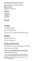 Protokoll der 24. Vorstandssitzung vom 25.10.2011