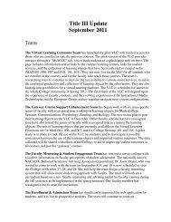 Title III Update September 2011