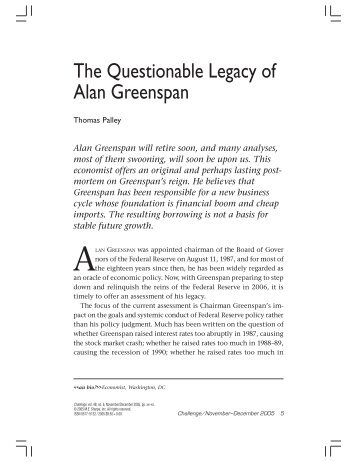leadership qualities of alan greenspan essay Business leader our leap into the unknown threatens both europe and the   alan greenspan is not known for his pessimism about capitalism.