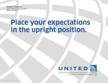 United Airlines Flight Schedule