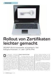 Rollout von Zertifikaten leichter gemacht - DFN-PKI - DFN-Verein