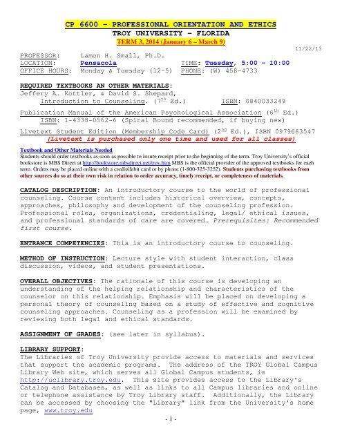 cp 6600 - Troy University Spectrum