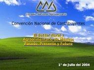5.CONACON. Posición del CNA. - Consejo Nacional Agropecuario ...