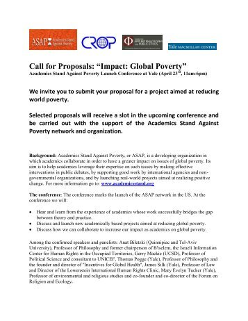 CFP yale2011_04 .pdf - CAPPE. Centre For Applied Philosophy and ...