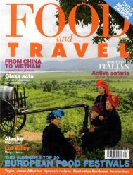 food and travel april 2013 - Grace Hotels