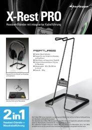 Headset-Ständer mit integrierter Kabelführung - Sharkoon