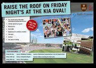 raise the roof on friday night's at the kia oval! - Keith Prowse