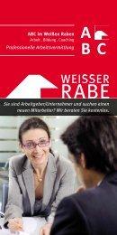 Flyer für Unternehmer Professionelle ... - Weisser Rabe