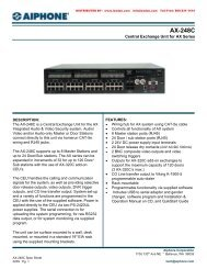 AIPHONE AX-248C Central Exchange Unit for AX Series Intercom