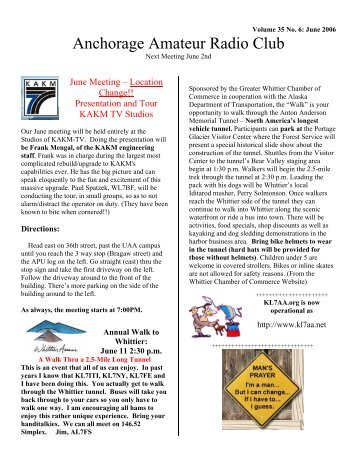 Volume 35 No. 6 - Anchorage Amateur Radio Club