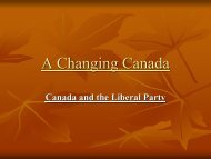 Canada and the Liberal Party