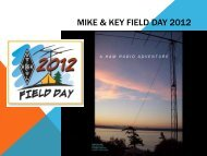 Field Day 2012 - Mike And Key Amateur Radio Club