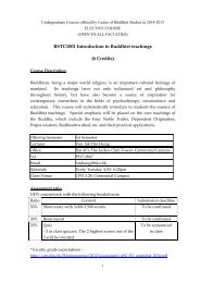 BSTC1001 Introduction to Buddhist teachings (6 Credits) - Centre of ...