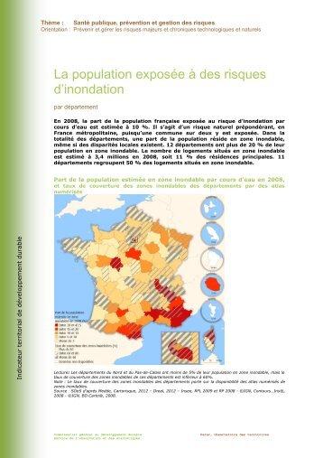 La population exposée à des risques d'inondation - L'Observatoire ...
