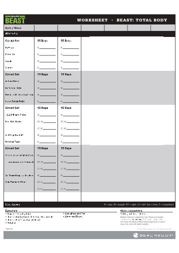 P90X3 Workout Sheets | P90X3 Complex Lower | Free PDF Download ...