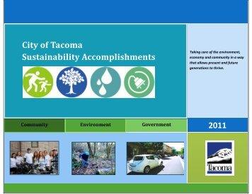City of Tacoma Sustainability Accomplishments for 2011