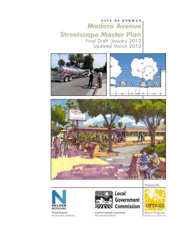 Madera Avenue Streetscape Master Plan - City of Kerman