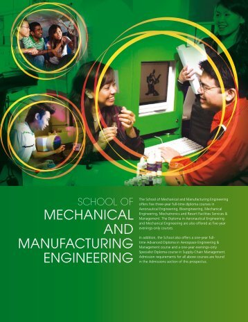mechanical and manufacturing engineering - Singapore Polytechnic