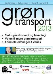• Status på økonomi og teknologi • vejen til mere grøn transport ...