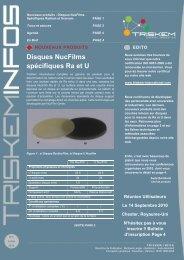 Disques NucFilms spécifiques Ra et U - TrisKem International