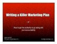 Writing a Killer Marketing Plan - svpma