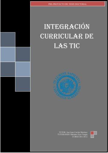 INTEGRACIÓN CURRICULAR DE LAS TIC - Repositorio ...