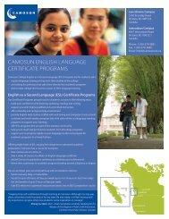 English Language Certificate Programs - Camosun College