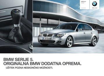 BMW SERIJE 5. ORIGINALNA BMW DODATNA OPREMA.