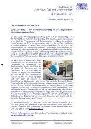Landesamt für Vermessung und Geoinformation - Bayerische ...