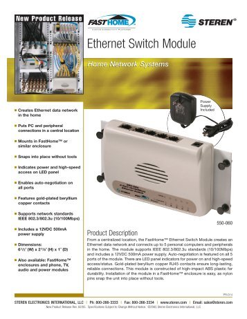 Ethernet Switch Module - Steren