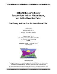 Establishing Best Practices for Alaska Native Elders - National ...