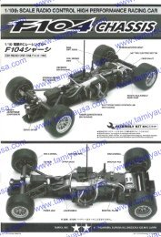 to download the F104 chassis instruction manual (PDF File ... - Tamiya