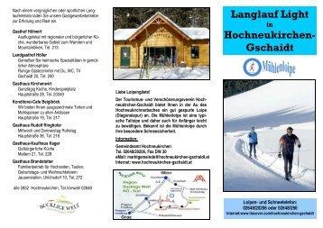 Langlauf Light Hochneukirchen- Gschaidt - Marktgemeinde ...