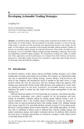 9 Developing Actionable Trading Strategies - Springer