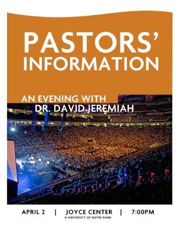 pastors - Dr. David Jeremiah
