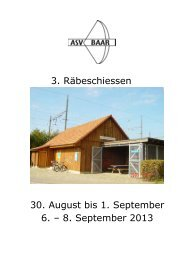 3. Räbeschiessen 30. August bis 1. September 6. – 8 ... - ZKAV