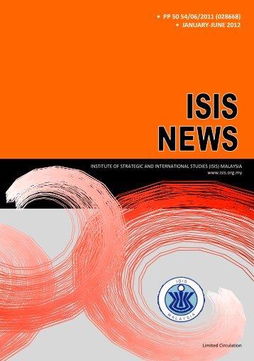 ISIS News 2012 Jan-Jun.pub - ISIS Malaysia